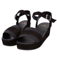 Flatform sandália salto reto