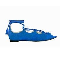 Sapato Azul Rasteirinha