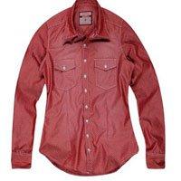 Camisa Vermelha com Bolsos