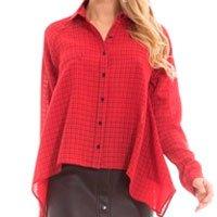 Camisa Vermelha Xadrez