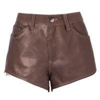 Shorts Cintura Alta Couro