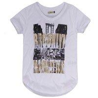 T-shirt Branca Estampada