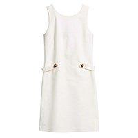 vestido branco com detalhe na cintura