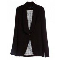 blazer preto manga longa com um so botão