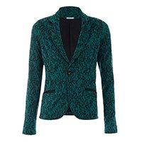 blazer verde estampado