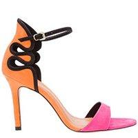 sandália colorida