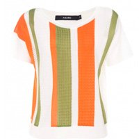 blusa listra verde e laranja