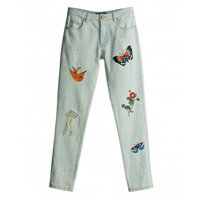 calça jeans patches