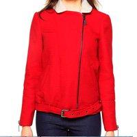 casaco vermelho pelo