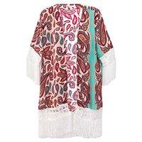 Kimono Com Franja
