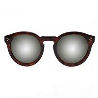 óculos redondo tartaruga espelhado
