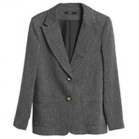 Blazer Chevron Pocket