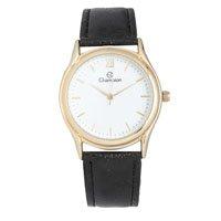 relógio redondo pulseira couro