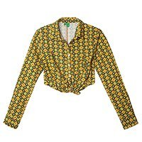Camisa cropped Farm retrô Solange