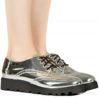 Sapato oxford prata specchio Taquilla