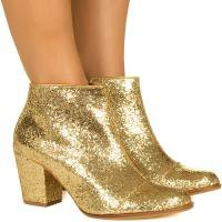 Bota de glitter dourada Taquilla